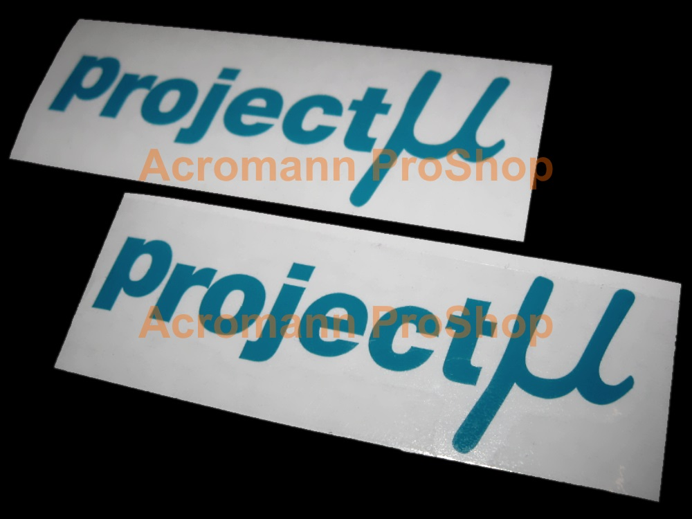 Project U (mu) 6inch Decal x 2 pcs
